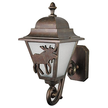 Melissa Americana 1-Light Outdoor Sconce; Old Bronze