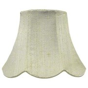 Jubilee Collection 7'' Silk Bell Lamp Shade; Green