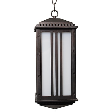 Melissa Parisian Elegance 1 Light Outdoor Hanging Lantern; Rusty Nail