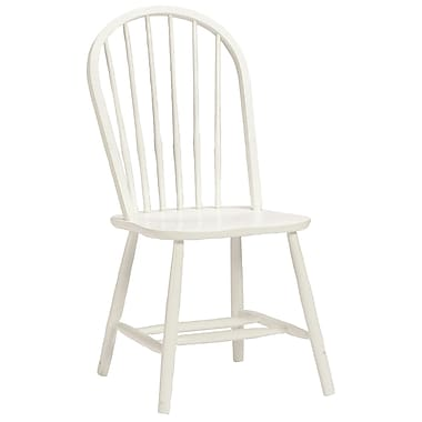 Bolton Furniture Mission Traditional Bow Back Desk Chair; White