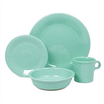 Fiesta 4 Piece Place Setting Set; Turquoise WYF078275494627
