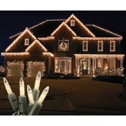 Queens of Christmas 70 Light LED Icicle Light; Warm White / Green