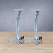 Bello Heavy Duty 24'' Fixed Height Speaker Stand (Set of 2); Silver