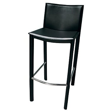 TFG Elston Bar Stool with Cushion; Black