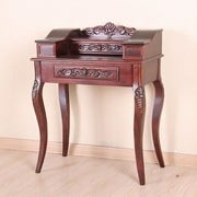 International Caravan Windsor Hand Carved Wood Telephone Table