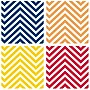 Thirstystone 4 Piece Bright Colors Chevrons Occasions Coasters