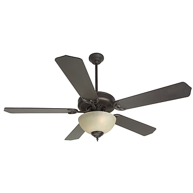 Craftmade 52'' CD Unipack 208 5 Blade Ceiling Fan; Oiled Bronze with Oiled Bronze Blades
