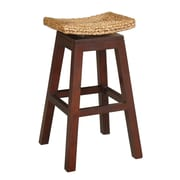 Jeffan Sanibel Swivel Bar Stool in Natural Mahongany; 29''