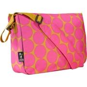 Wildkin Big Dots Kickstart Messenger Bag; Hot Pink