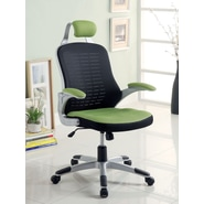 Hokku Designs Tarbo Mesh Office Chair with Arms; Green