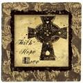 Thirstystone Cross of Faith Travertine Ambiance Coaster Set (Set of 4)