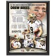 Mounted Memories Drew Brees New Orleans Saints Consecutive Games Passing TDs Record Player Plaque