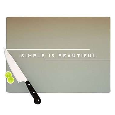 KESS InHouse Simple Beautiful Cutting Board; 11.5'' H x 15.75'' W x 0.25'' D