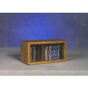 Wood Shed 100 Series 28 CD Multimedia Tabletop Storage Rack; Unfinished
