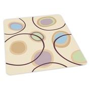 ES Robbins Circles Design Chair Mat; 36'' x 48'' Rectangular, Beveled, .110, Carpet