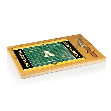 Picnic Time NCAA Football Icon Cutting Cheese Tray; University Of Miami Hurricanes