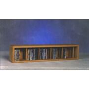 Wood Shed 100 Series 67 CD Multimedia Tabletop Storage Rack; Dark