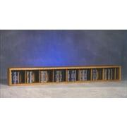 Wood Shed 100 Series 106 CD Multimedia Tabletop Storage Rack; Clear
