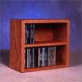Wood Shed 200 Series 52 CD Multimedia Tabletop Storage Rack; Dark