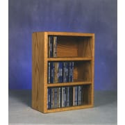 Wood Shed 300 Series 78 CD Multimedia Tabletop Storage Rack; Unfinished