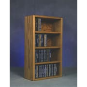 Wood Shed 400 Series 104 CD Wall Mounted Multimedia Storage Rack; Natural