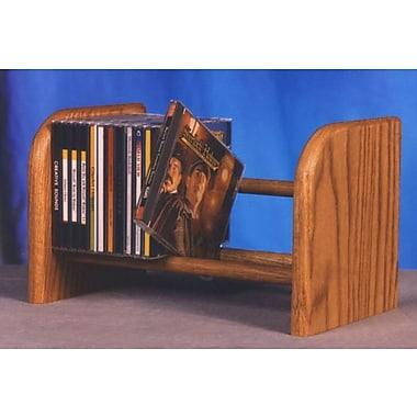 Wood Shed 100 Series 26 CD Dowel Multimedia Tabletop Storage Rack; Dark