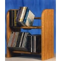 Wood Shed 200 Series 52 CD Dowel Multimedia Tabletop Storage Rack; Dark