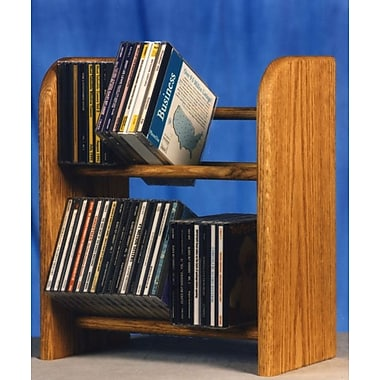 Wood Shed 200 Series 52 CD Dowel Multimedia Tabletop Storage Rack; Natural