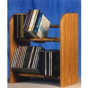 Wood Shed 200 Series 52 CD Dowel Multimedia Tabletop Storage Rack; Clear