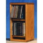 Wood Shed 200 Series 28 CD Multimedia Tabletop Storage Rack; Natural