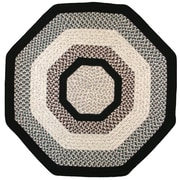 Thorndike Mills Green Mountain Onyx Granite Black Area Rug; Octagon 10'