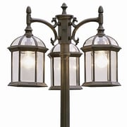 TransGlobe Lighting Outdoor 3 Light 79'' Post Light; White