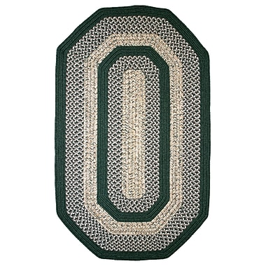 Thorndike Mills Town Crier Green Indoor/Outdoor Rug; Runner 2'3'' x 12'