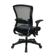 Office Star Space Seating Eco Leather Executive Back Chair with Flip Arms