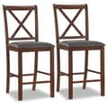 Leick Crossback Counter Stool (Set of 2); 25''