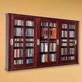 Leslie Dame Triple Glass Door Multimedia Wall Mounted Cabinet; Dark Cherry