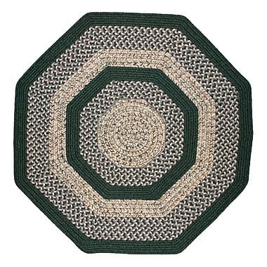 Thorndike Mills Town Crier Green Indoor/Outdoor Rug; Octagon 8'