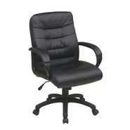 Office Star Mid Back Executive Chair with Padded Arms