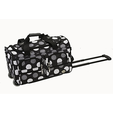 Rockland 22'' 2-Wheeled Travel Duffel; New Black Dot