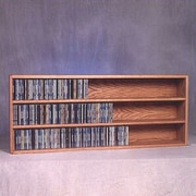 Wood Shed 300 Series 354 CD Wall Mounted Multimedia Storage Rack; Dark