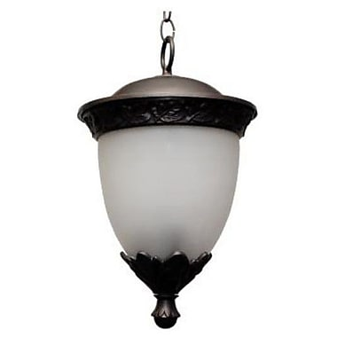 Melissa Tuscany 3-Light Outdoor Pendant; Aged Silver
