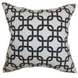 The Pillow Collection Qishn Geometric Cotton Pillow; White Black
