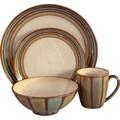 Sango Flair 16 Piece Dinnerware Set; Brown