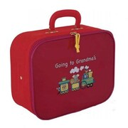 Mercury Luggage Going to Grandma's 12.5'' Children's Suitcase; Red / Pink