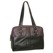 Buxton Santorini Comp Tote Bag; Black and Plum