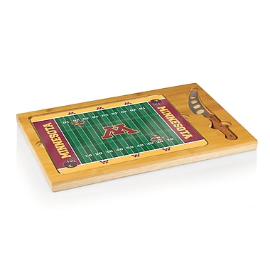 Picnic Time NCAA Football Icon Cutting Cheese Tray; University of Minnesota Golden Gophers