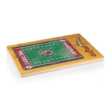 Picnic Time NCAA Football Icon Cutting Cheese Tray; University of South Carolina Gamecocks