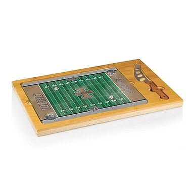 Picnic Time NCAA Football Icon Cutting Cheese Tray; University of Idaho Vandals