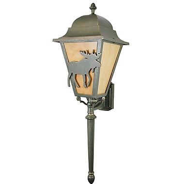 Melissa Americana 3-Light Outdoor Sconce; Aged Silver