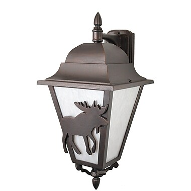 Melissa Americana 3-Light Outdoor Wall Lantern; Old Bronze
